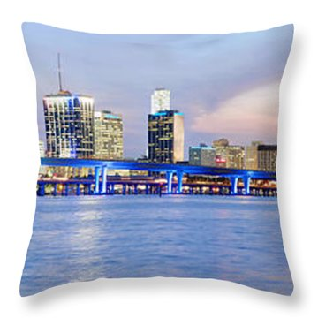 Miami 2004 Throw Pillow by Patrick M Lynch