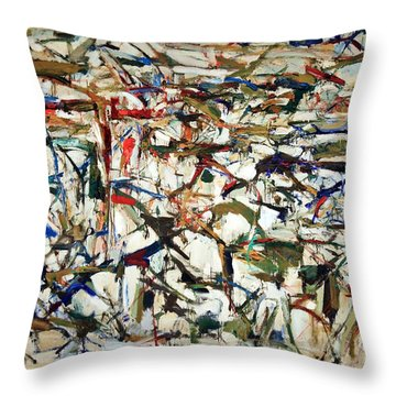 Mitchell's Piano Mecanique Throw Pillow by Cora Wandel