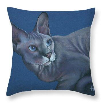 Nefertiti Throw Pillow by Cynthia House
