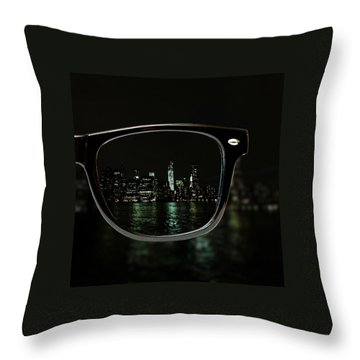 Night Vision Throw Pillow by Natasha Marco