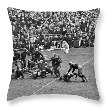 Notre Dame-army Football Game Throw Pillow by Underwood Archives