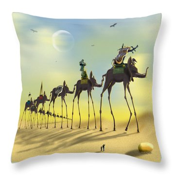 On The Move Throw Pillow by Mike McGlothlen