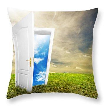 Open Door To New Life Throw Pillow by Michal Bednarek