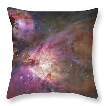 Orion Nebula Throw Pillow by Sebastian Musial