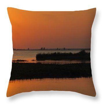 Panoramic Sunset Throw Pillow by Frozen in Time Fine Art Photography