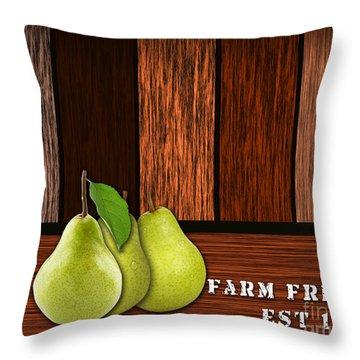 Pear Farm Throw Pillow by Marvin Blaine