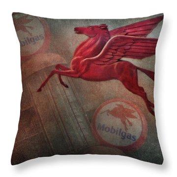 Pegasus Throw Pillow by David and Carol Kelly
