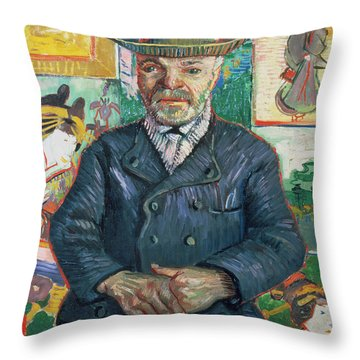 Pere Tanguy Throw Pillow by Vincent van Gogh