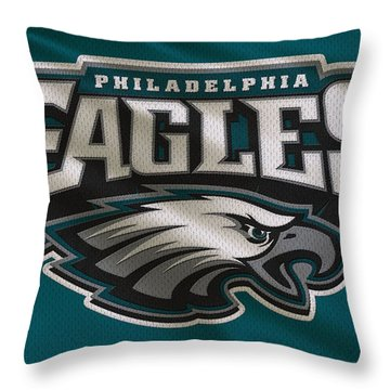 Philadelphia Eagles Uniform Throw Pillow by Joe Hamilton