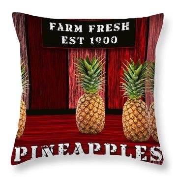 Pineapple Farm Throw Pillow by Marvin Blaine