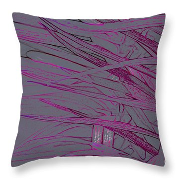 pink Leaves Throw Pillow by Carol Lynch