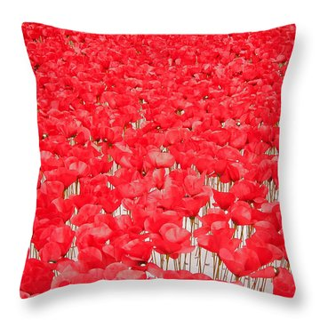 Poppy Meadow ... Throw Pillow by Juergen Weiss