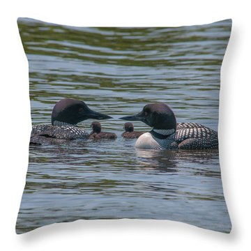 Proud Parents Throw Pillow by Brenda Jacobs