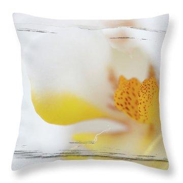 Pure White Throw Pillow by Sebastian Musial