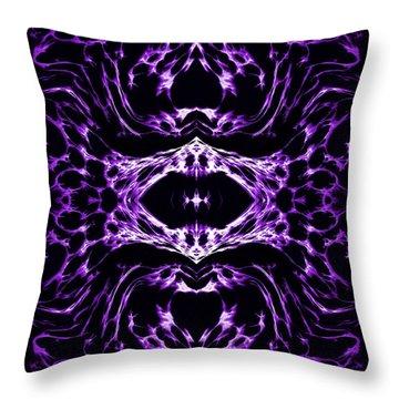 Purple Series 3 Throw Pillow by J D Owen
