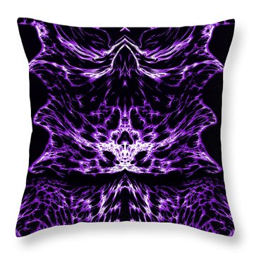 Purple Series 6 Throw Pillow by J D Owen