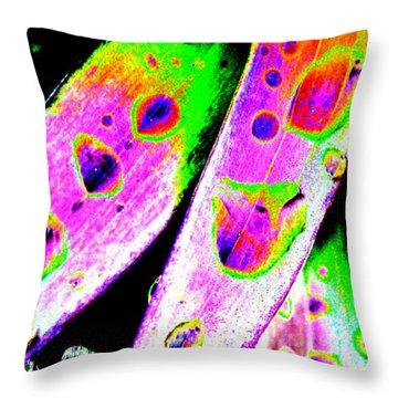 Raindrops Throw Pillow by Carol Lynch