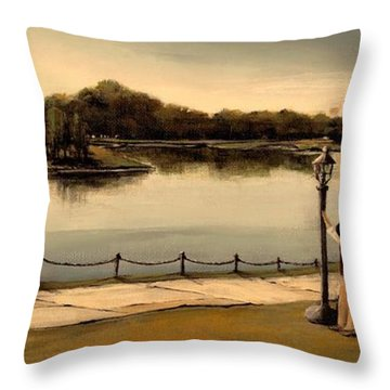 Reflections Throw Pillow by Diane Strain