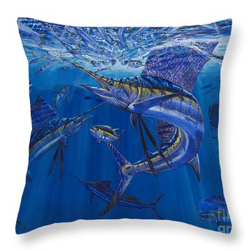 Rendezvous  Throw Pillow by Carey Chen