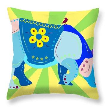 Rhino Throw Pillow by Mark Ashkenazi