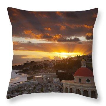 San Juan Sunrise Throw Pillow by Brian Jannsen