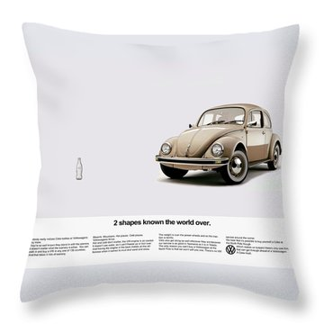 2 Shapes Known The World Over Throw Pillow by Mark Rogan