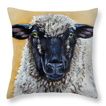 Shirley Throw Pillow by Laura Carey