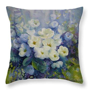 Spring Throw Pillow by Elena Oleniuc