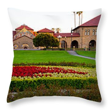 Stanford University Campus, Palo Alto Throw Pillow by Panoramic Images