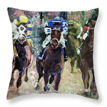 The Bets Are On Throw Pillow by Anthony Falbo
