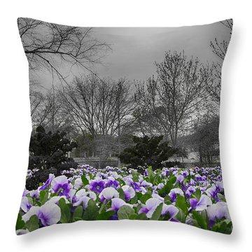The Color Purple Throw Pillow by Douglas Barnard