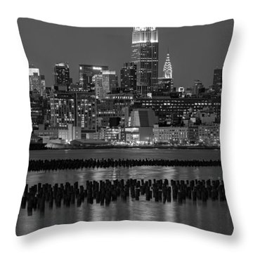 The Empire State Building Pastels II Throw Pillow by Susan Candelario