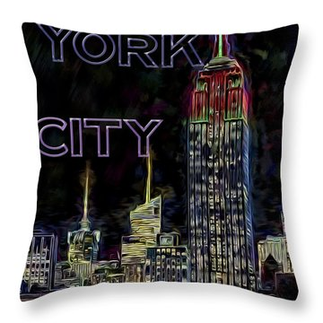 The Empire State Building Throw Pillow by Susan Candelario