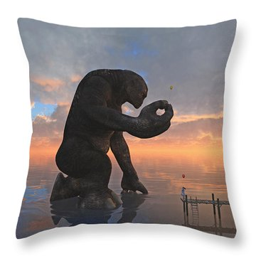 The Gift Throw Pillow by Cynthia Decker