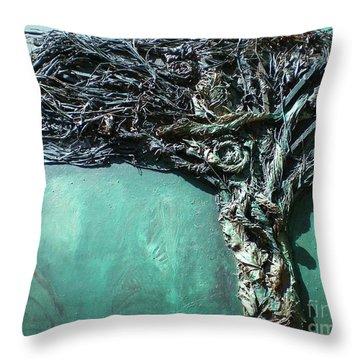 The Greenman Throw Pillow by Ann Fellows
