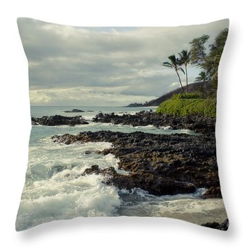 The Sea Throw Pillow by Sharon Mau