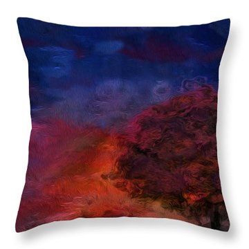 Through The Mist Throw Pillow by Jack Zulli