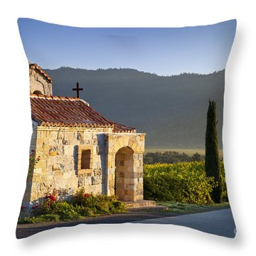 Vineyard Prayer Chapel Throw Pillow by Brian Jannsen