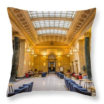 Walter Library Throw Pillow by Le Phuoc