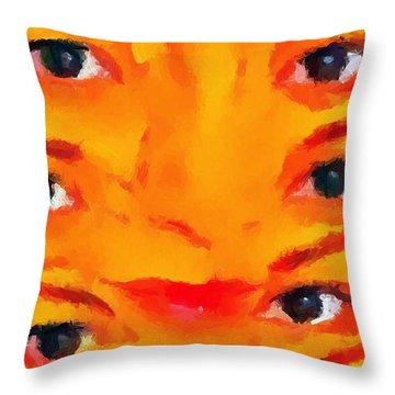 Weird 2 Throw Pillow by Chris Butler
