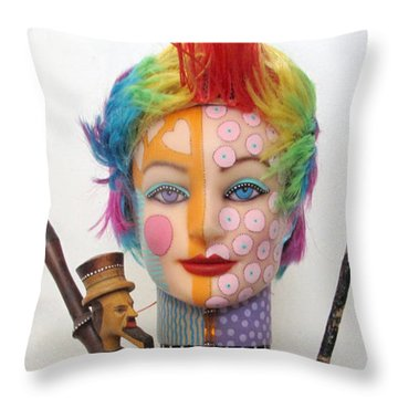 What The Hell Was She Smoking Throw Pillow by Keri Joy Colestock