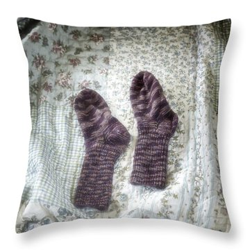 Woollen Socks Throw Pillow by Joana Kruse