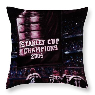 2004 Champs Throw Pillow by Marlon Huynh