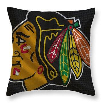 Chicago Blackhawks Throw Pillow by Joe Hamilton