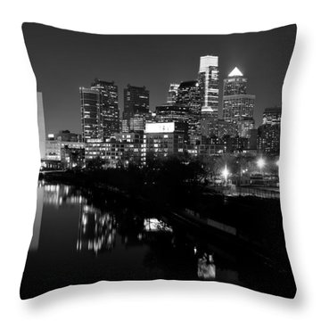 23 Th Street Bridge Philadelphia Throw Pillow by Louis Dallara