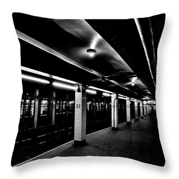 23rd Street Station Throw Pillow by Benjamin Yeager