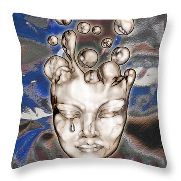 24x36 Misery 220 Throw Pillow by Dia T