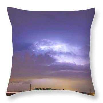 25 To 34 Intra-cloud Lightning Thunderstorm Throw Pillow by James BO  Insogna