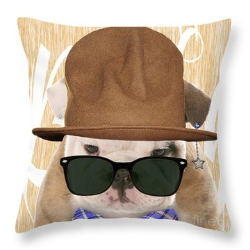 Bulldog Collection Throw Pillow by Marvin Blaine