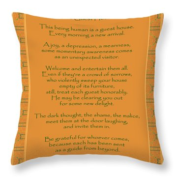 29- The Guest House Throw Pillow by Joseph Keane